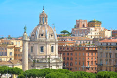 Trajan Column in the forum of Trajan in Rome, Italy Stock Images