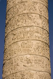 Trajan column located in Trajan Forum in Rome Royalty Free Stock Photography