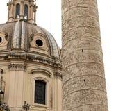 Trajan column, roman forum, Rome, Italy Royalty Free Stock Photo