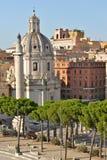 Trajan column in rome royalty free stock images