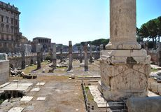 Trajan column in Rome (Italy) Royalty Free Stock Photography
