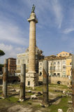 Trajan column in Rome Royalty Free Stock Photos