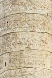 Trajan columns in Rome Stock Image
