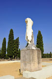 Trajan emperor, archaeological site of the Roman city of Italica, Andalusia, Spain Stock Image