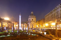 The Trajan Forum Royalty Free Stock Photography