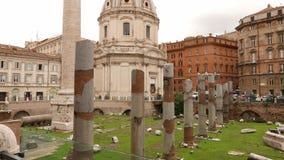 Trajan Forum in the city of Rome. Videoclip stock video