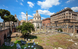 Trajan Forum (Foro Traiano) Royalty Free Stock Photos