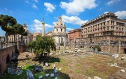 Trajan Forum (Foro Traiano) Lizenzfreie Stockfotos