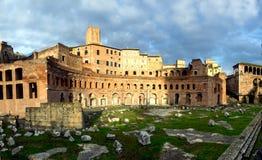 Trajan forum market in Rome Stock Photos