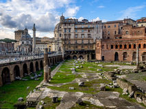 Trajan forum market in Rome Royalty Free Stock Photo