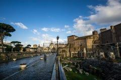Trajan forum in italy Stock Image