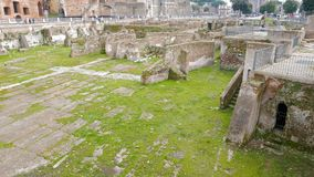 Trajan Forum, Roma, Italy stock footage