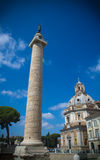 Trajan forum, Rome. The Trajan Column, Imperial Forum, Rome, Italy Stock Photo
