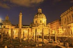 Trajan Forum in Rome, Italy Stock Image