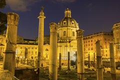Trajan Forum in Rome, Italy Stock Photo