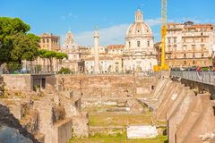Trajan Forum, Rome, Italy. Royalty Free Stock Photos