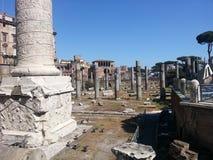 Trajan forum w Rzym zdjęcia royalty free