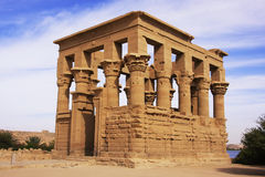 Trajan kiosk, Philae Temple, Lake Nasser Royalty Free Stock Photography