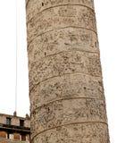 Trajan kolonn, roman forum, Rome, Italien Arkivbild
