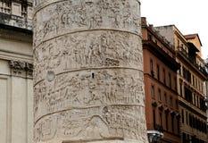 Trajan kolonn, roman forum, Rome, Italien Arkivfoton