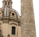 Trajan kolonn, roman forum, Rome, Italien Royaltyfri Foto