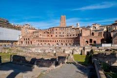 Trajan Market Mercati di Traiano near the Roman Forum and Traj stock images