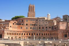 Trajan Market (Mercati Traianei) in Rome, Italy Royalty Free Stock Photography
