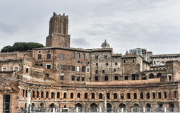 Trajan Market in Rome, Italy Royalty Free Stock Photo