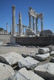 trajan pergamon s tempel Royaltyfria Bilder