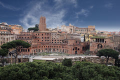 The trajan rome Stock Photo