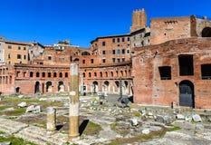 Trajan rynki, Rzym Obrazy Stock