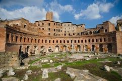 Trajan ` s市场,罗马 免版税库存图片