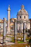 Trajan's Column (Colonna Traiana) Royalty Free Stock Image