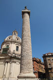 Trajan's Column. Next to Trajan's market. The column depicts the story of the roman's conquest in Dacia. It shows the story of victory over dacians and over Royalty Free Stock Photos