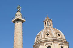 Trajan's Column in Rome, Italy Royalty Free Stock Images