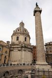 Trajan's Column in Rome, Italy Stock Images