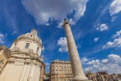 Trajan`s Column in Rome Royalty Free Stock Photography