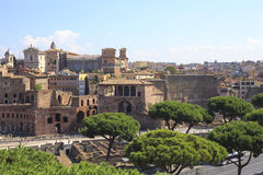 Trajan's Forum in Ancient Rome, Italy Royalty Free Stock Image