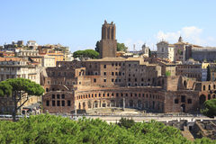 Trajan's Forum in Ancient Rome, Italy Stock Photo