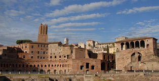 Trajans Forum. The biggest of the imperial fora Stock Photos