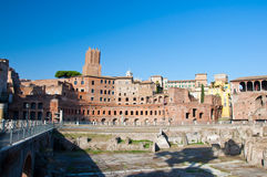 Trajan's Forum and Casa dei cavalieri di Rodi. Rome, Italy Royalty Free Stock Images