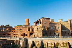 Trajan's Forum and Casa dei cavalieri di Rodi. Rome, Italy Stock Photography