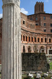 Trajan's Forum details Stock Images