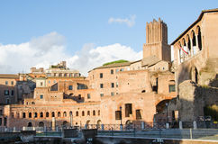 Trajan's Forum at the Fori Imperiali in Rome Stock Photo
