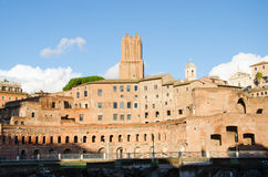 Trajan's Forum at the Fori Imperiali in Rome Stock Photos