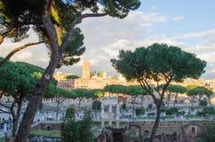 Trajan's Forum at the Fori Imperiali in Rome Stock Photo