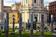 Trajan ` s Forum Foro Di Traiano Stock Foto's