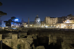 Trajan's Forum (Foro Di Traiano) Royalty Free Stock Photo