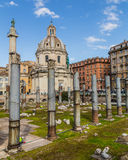 Trajan's Forum (Foro Di Traiano) and Trajan's Column Royalty Free Stock Photo
