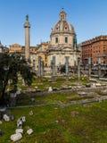 Trajan's Forum (Foro Di Traiano) and Trajan's Column Stock Photos